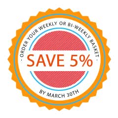 Save 5% by signing up by March 30